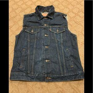 Beautifully Distressed Levi's Denim/Jean Vest